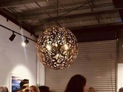 Antique Bronze Sphere Light Pendant Chandelier