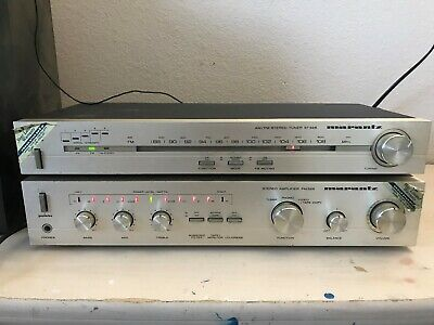 Vintage Silver Marantz Pm325 Integrated Amplifier Amp St325 Tuner Made In Japan