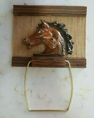 Vintage Kitsch Toilet Roll Holder - ideal for Horse Lovers