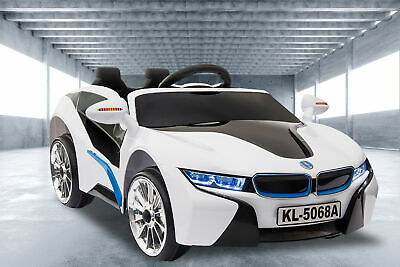 Kids Ride On Car Electric Toy Battery Remote Control Children BMW Replica White