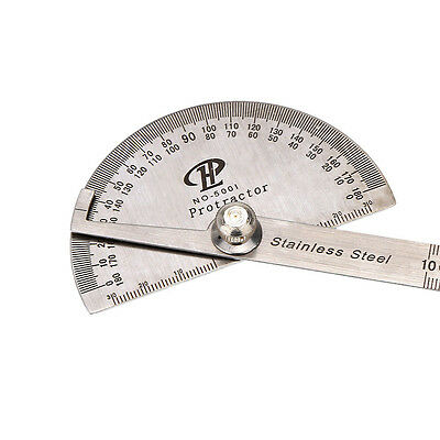 180 degree Protractor Angle Finder Arm Measuring Ruler Stainless Steel Tool