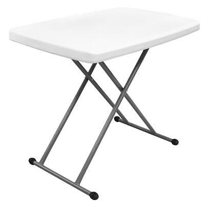 Table Compacte et Pliable, 76 x 50 x 51/63/74 cm, Blanc