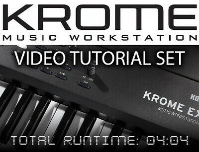 Korg KROME EX Instructional Video Tutorials on DVD ROM and Download