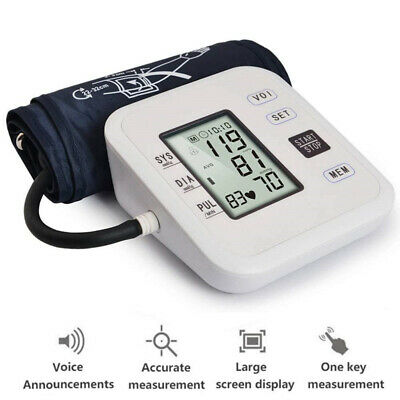 Automatic Arm Blood Pressure Monitor Heart Beat Rate Pulse Measure Tester Tool