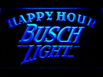 Busch Light Beer Happy Hour Bar LED Sign 8*12 Inch