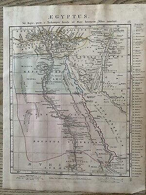 1841 Ancient Egypt Original Antique Hand Coloured Map By Aaron Arrowsmith