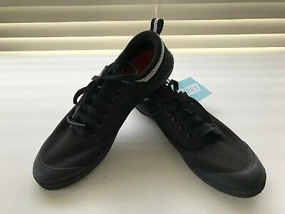 Mens/Womens Volley Sneakers Casual Lace Up Canvas Shoes,Black Size Us 7 Uk 6