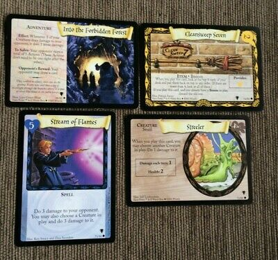 4 x Harry Potter Trading Card Game Cards Quidditch Cup Set TCG