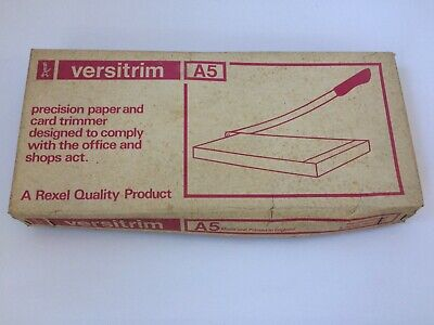 Vintage Rexel Versitrim Cutter / Trimmer / Guillotine A5
