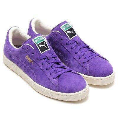 PUMA STATES SUMMER Cool Pack Mens Purple Leather Lace Up