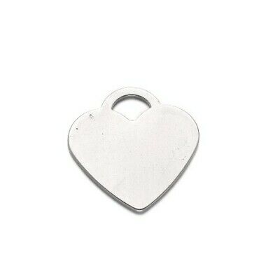 304 Stainless Steel Heart Stamping Blanks Silver 25 x 26mm  3 Pcs DIY Jewellery