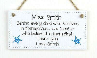 Teacher Thank You Gift PERSONALISED Teacher Assistant Nursery Star Plaque Gifts