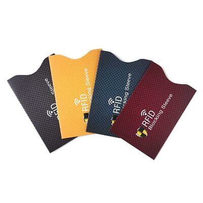 5PCS Anti Theft for RFID Credit Card Protector Blocking Cardholder Sleeve Skin