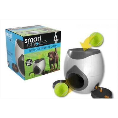 Fetch And Treat Automatic Dog Feeder Ball Game Tennis Balls Training Interactive