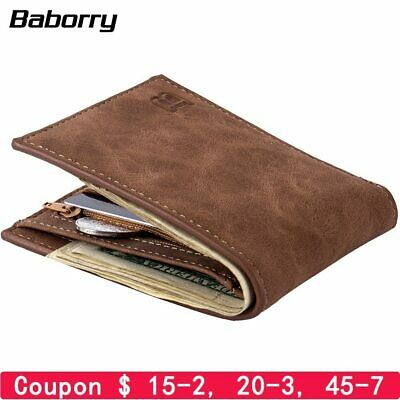 Fashion 2019 Men Wallets Mens Wallet with Coin Bag Zipper Small Money Purses