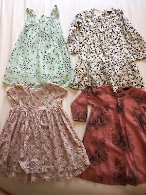 Girls Bundle Of Cotton Dresses Aged 4 Years
