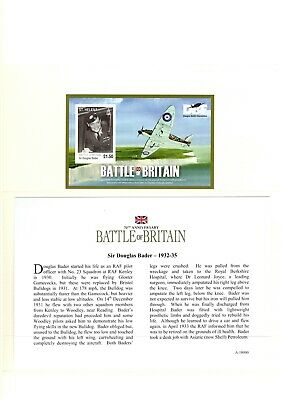 Westminster Coin, 70th Anniversary Battle of Britain Douglas Bader 1932-35 Stamp