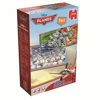 Disney Planes 2 in 1 Ludo + Snakes & Ladders Board Game By Jumbo New & Sealed