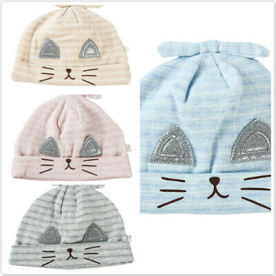 Infants Hats Rabbit Ears Hat Cotton Striped Cap Summer Kids Baby Tire Caps LH