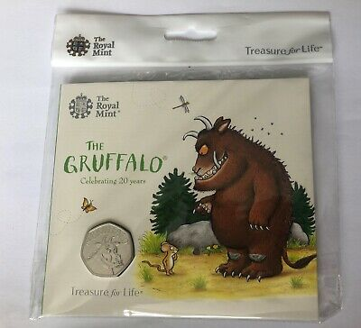 Gruffalo 50p Royal Mint Packaged Brilliant Uncirculated BU Coin