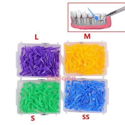 400pcs Dental orthodontics Plastic Poly-wedges with Dental holes 4 colors 4sizes