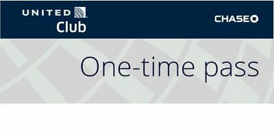 United Club One Time Pass Exp Oct 23, 2019 - e-delivery within 12 hours