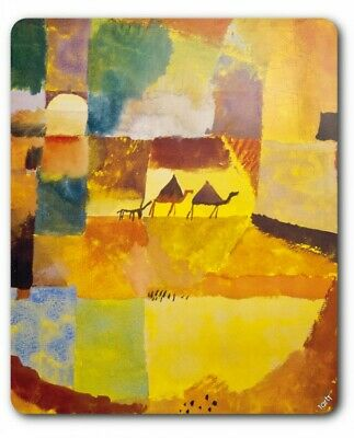 Paul Klee - Two Camels And A Donkey 1919 Mouse Pad Mat (9x7in) #89374