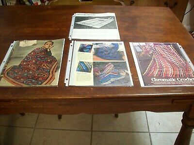 Patterns Magazines Articles Crochet Vintage Afghans (4) .(#209)