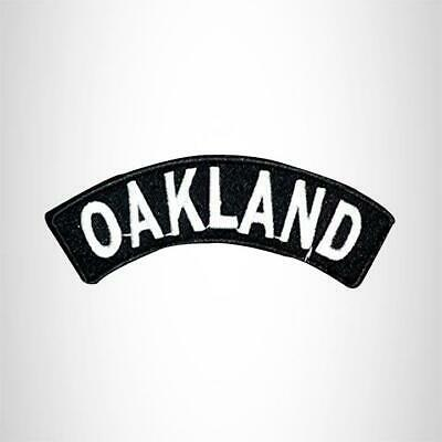 Oakland Embroidered Rocker Small Patch Biker Patches for sleeve