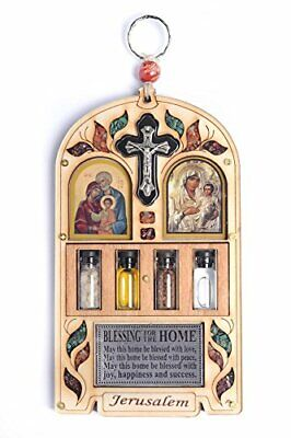 Home Blessing - Jesus Icon Multiple Languages with Jerusalem city Medallion