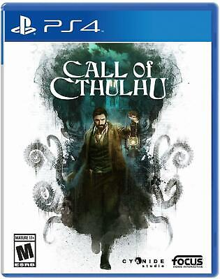 Call of Cthulhu  PS4 (Sony PlayStation 4, 2018) Brand New - Region Free