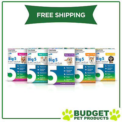 The Big 5 Protection Pack For Dogs All Sizes 6 Pack (Interceptor + Credelio)
