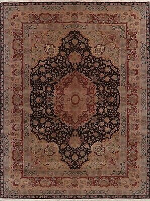 Oushak Turkey Oriental Area Rug Hand-Knotted Wool Floral 9 x 11 NEW Carpet Brown