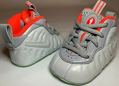 online store abca5 76fef Nike Lil  Posite Foamposite One PURE PLATINUM Boys Baby Crib Shoes Size 1c  GREY