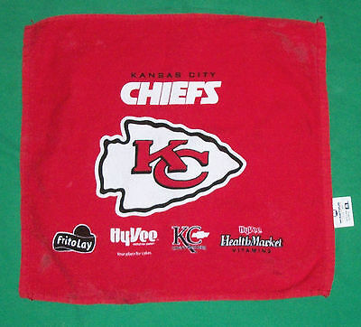 Vtg Kansas City Chiefs Team Spirit Towel Advertisement Frito Lay Hyvee Mccarthur