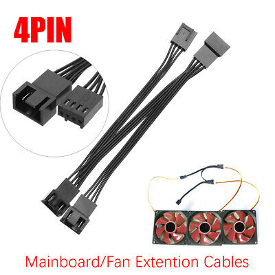 Mainboard CPU 4PIN Fan Extension Cables Computer Case PWM Fan Splitter Connector