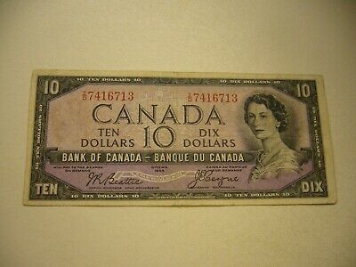1954-Bank-of-Canada-Devils-Face-10-Dollars Beattie/Coyne