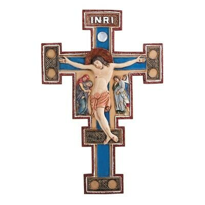 Russian Three Bar Orthodox Cross 8 Inch,  Resin,  Byzantine Wall Crucifix