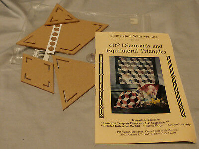 NOS Diamonds & Equilateral Triangles Quilt Template Set 4 Pcs Come Quilt With Me