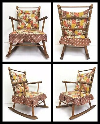 Unique Vintage Antique Children's Rocking Chair Child Wooden Chair, Kid's -