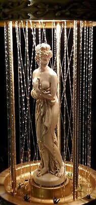 Vintage Creators Inc Greek Goddess Oil Rain Drip Motion Lamp Works Cracked Base