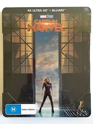 NEW Captain Marvel Bluray Steelbook 4K UHD HDR Action Limited Larson Blu-ray