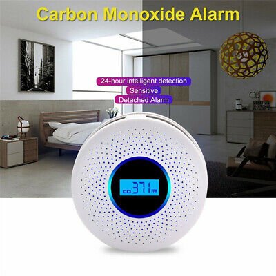 2 in 1 for Carbon Monoxide and Smoke Fire Alarm CO & Smoke Home Kitchen Detector