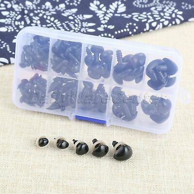 125Pcs Puppet Black Safety Noses Handmade Animal Doll Toy Plastic Triangle Noses