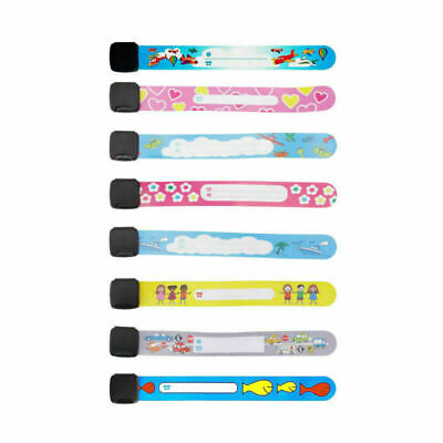 Waterproof Reusable Bracelet Safety Adjustable Child ID Safety Wristband AUstock