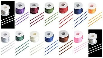 20M X 2mm Qualité Queue de Rat Satin Corde - GR8 4 Kumihimo - 13 Coloris -
