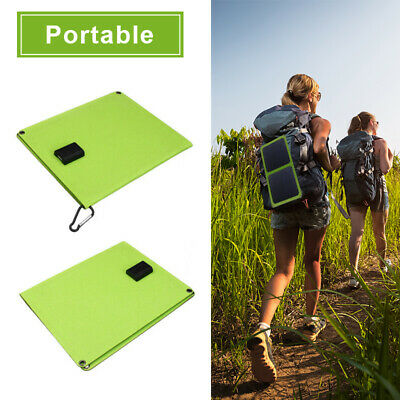 USB 5V 14W Portable Solar Panel Foldable Outdoor Camping Charging For SmartPhone