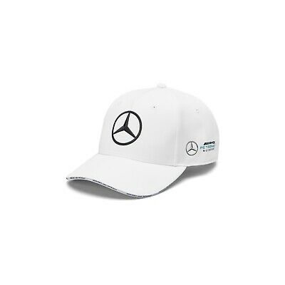NEW 2019 Mercedes AMG Petronas F1 Mens TEAM Baseball Cap Hat WHITE – OFFICIAL
