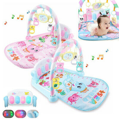 Baby Gym Play Mat Lay&Play 3 in1 Fitness + Music + Lights Fun Piano pink boy