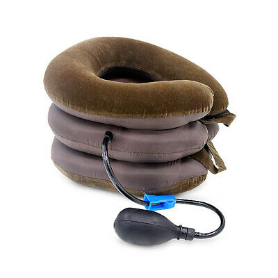 Neck Support Cervical Collar Relief Traction Brace Stretcher Inflatable Comfort
